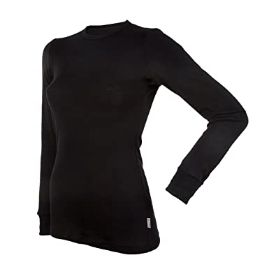 Amazon.com  Janus 100% Merino Wool Women s Long Sleeve T-Shirt Made ... e989b200e