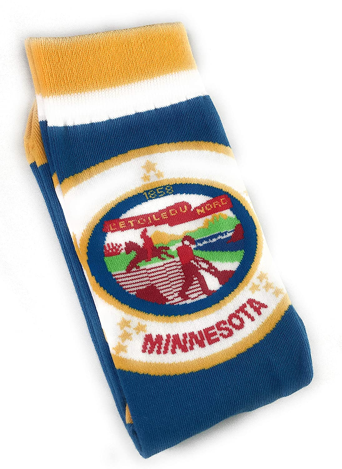 THE STATE MATE Minnesota State Flag Mens Dress Socks Size 8-12