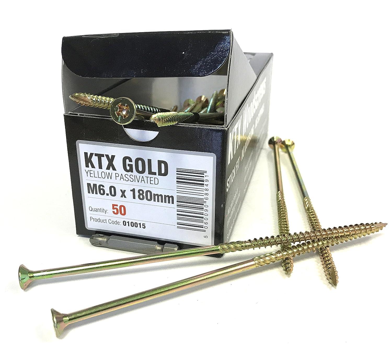 Concept de distribution 10015M6.0X 180mm KTX professionnel à bois gratuit Embout Doré (1600–Pièces) Concept Distribution Limited