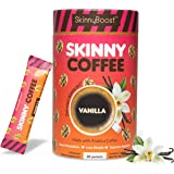 Skinny Boost Skinny Coffee- (Vanilla Flavored) Instant Slimming Coffee Blend Made with premium Arabica Coffee, Garcinia Cambo