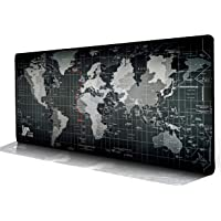 Mouse Pad, Saving Home Extended Large Size 80cmx30cm Gaming Desk Mat - Portable with Stitched Edges World Map Desk Pad…