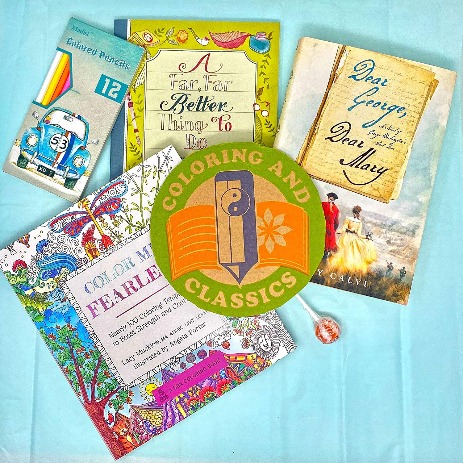 Coloring And Classics - Monthly Subscription Box - Acclaimed Fiction