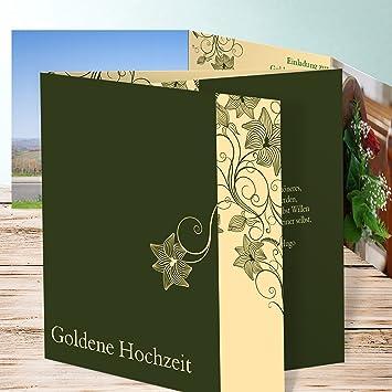 Einladungskarten Goldene Hochzeit Sinfonie Der Blüten 175