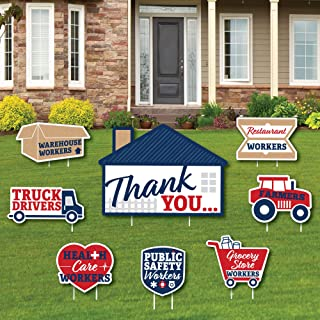 product image for Big Dot of Happiness Thank You Front Line Workers - Yard Sign and Outdoor Lawn Decorations - Yard Signs - Set of 8
