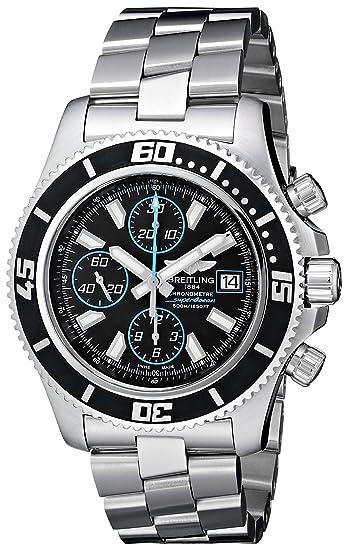 Breitling A1334102/BA83 - Reloj de pulsera hombre, acero inoxidable, color plateado: Amazon.es: Relojes