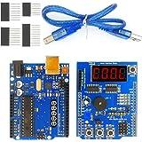 EEEEE UNO R3 ATMEGA328P ATMEGA16U2 & Multi-Function Shield Starter kit (2 in 1) for Sensor WiFi Relay Bluetooth Module with D
