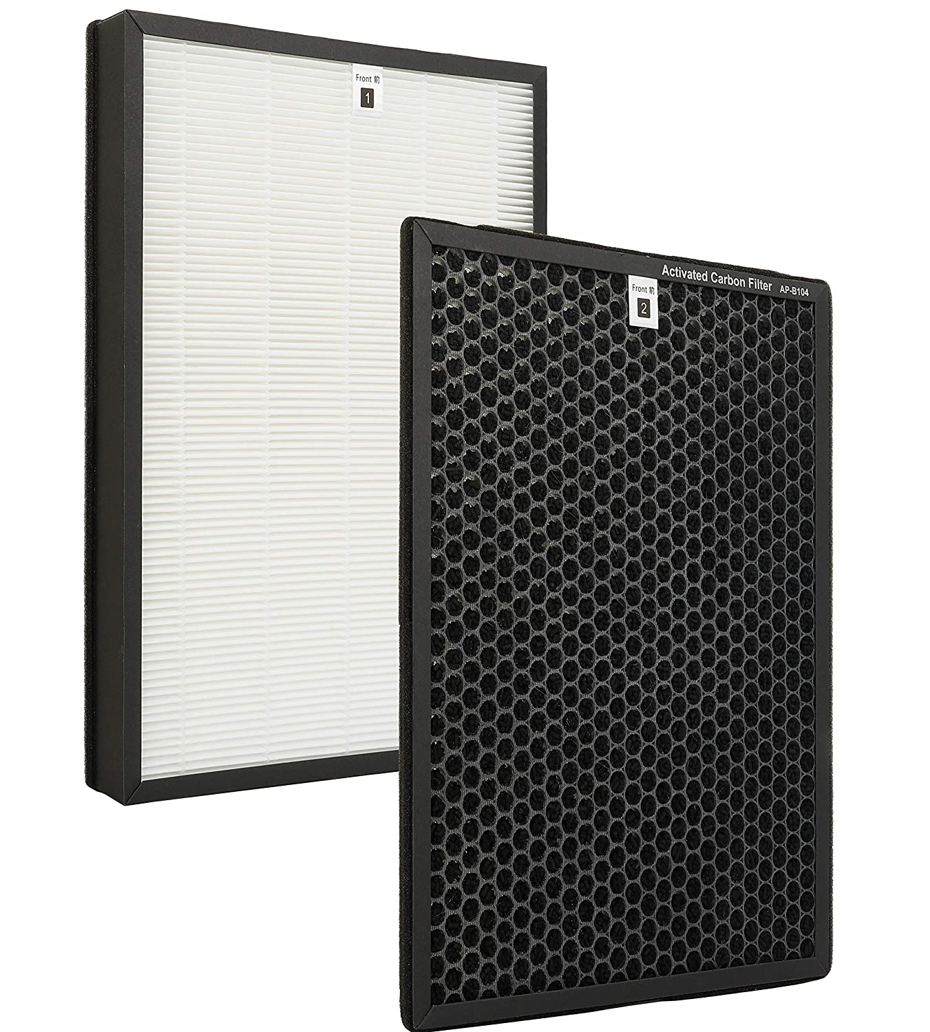 Flintar Premium True HEPA Replacement Filter Compatible with Alexapure Breeze Air Purifier 3049 Filter Combo – 1 True HEPA Filter and 1 Activated Carbon Filter, Captures 99.97% of allergens, 1 - Set