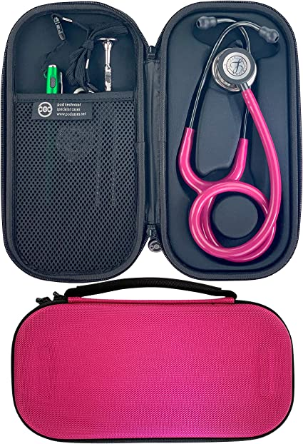 Pod Technical Classicpod Micro Stethoscope Case for Littmann Classic Stethoscopes Raspberry