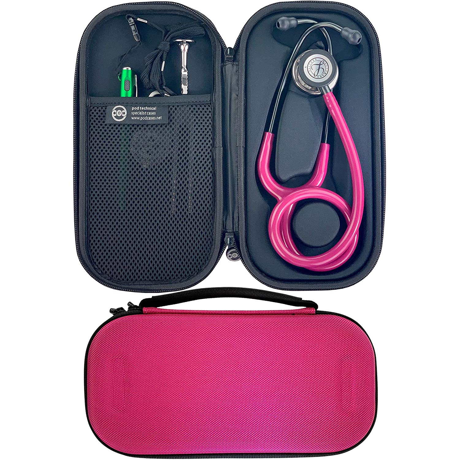 Pod Technical Classicpod - Funda para estetoscopio Littmann Classic Stethoscopes (microestetoscopio), color rosa