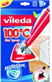 Vileda Panno Ricambio in Microfibra Compatibile con Lavapavimenti 100°C Hot Spray e Steam, 2 Pezzi