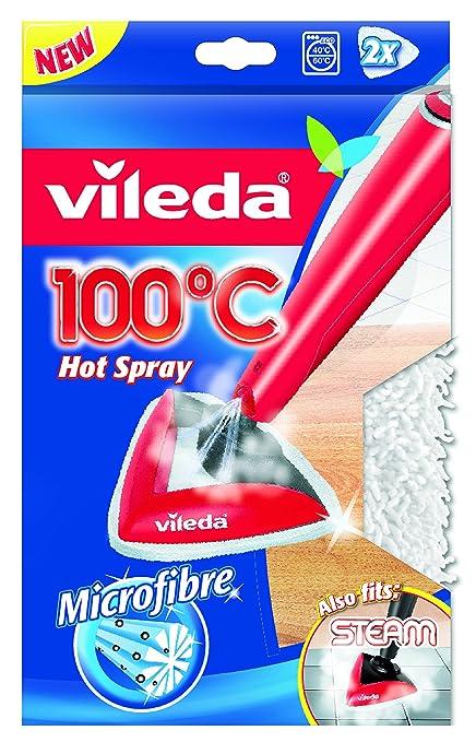 158 opinioni per Vileda Panno Ricambio in Microfibra Compatibile con Lavapavimenti 100°C Hot