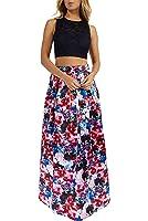 Teeze Me Juniors Two-Piece Sleeveless Lace Crop Top Long Skirt Dress