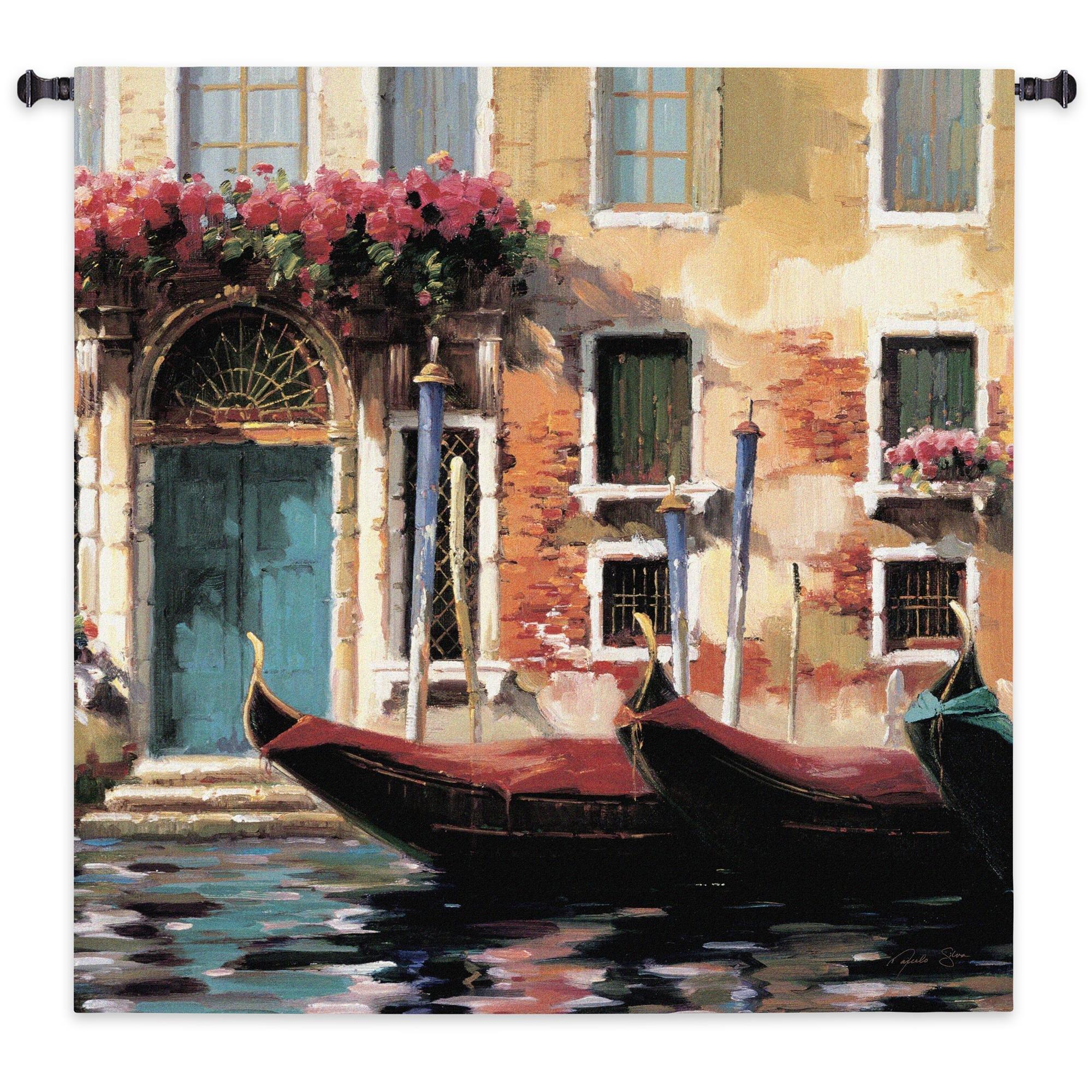 Venetian Gondolas I Tapestry Wall Hanging