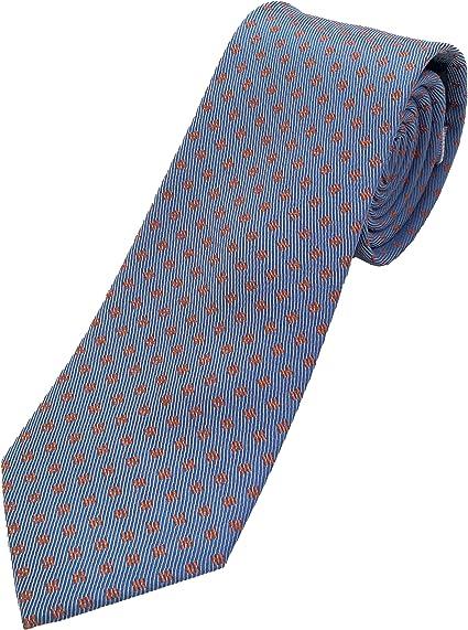 Corbatas de hombre - Corbatas de hombre originales - Corbata azul con rojo - Corbata hombre fabricada artesanalmente - 100% seda - Pietro Baldini