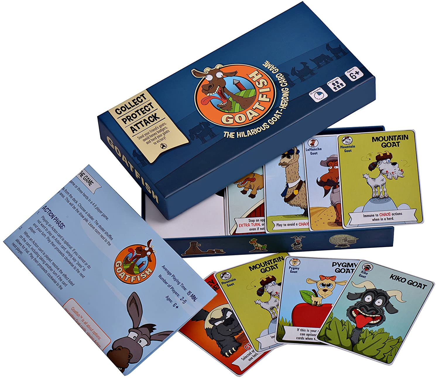 Amazon.com: Goatfish - The Hilarious Goat-Herding Card Game - Party Game  for 2-5 Players, Fun for Adults, Kids and Families: Toys & Games