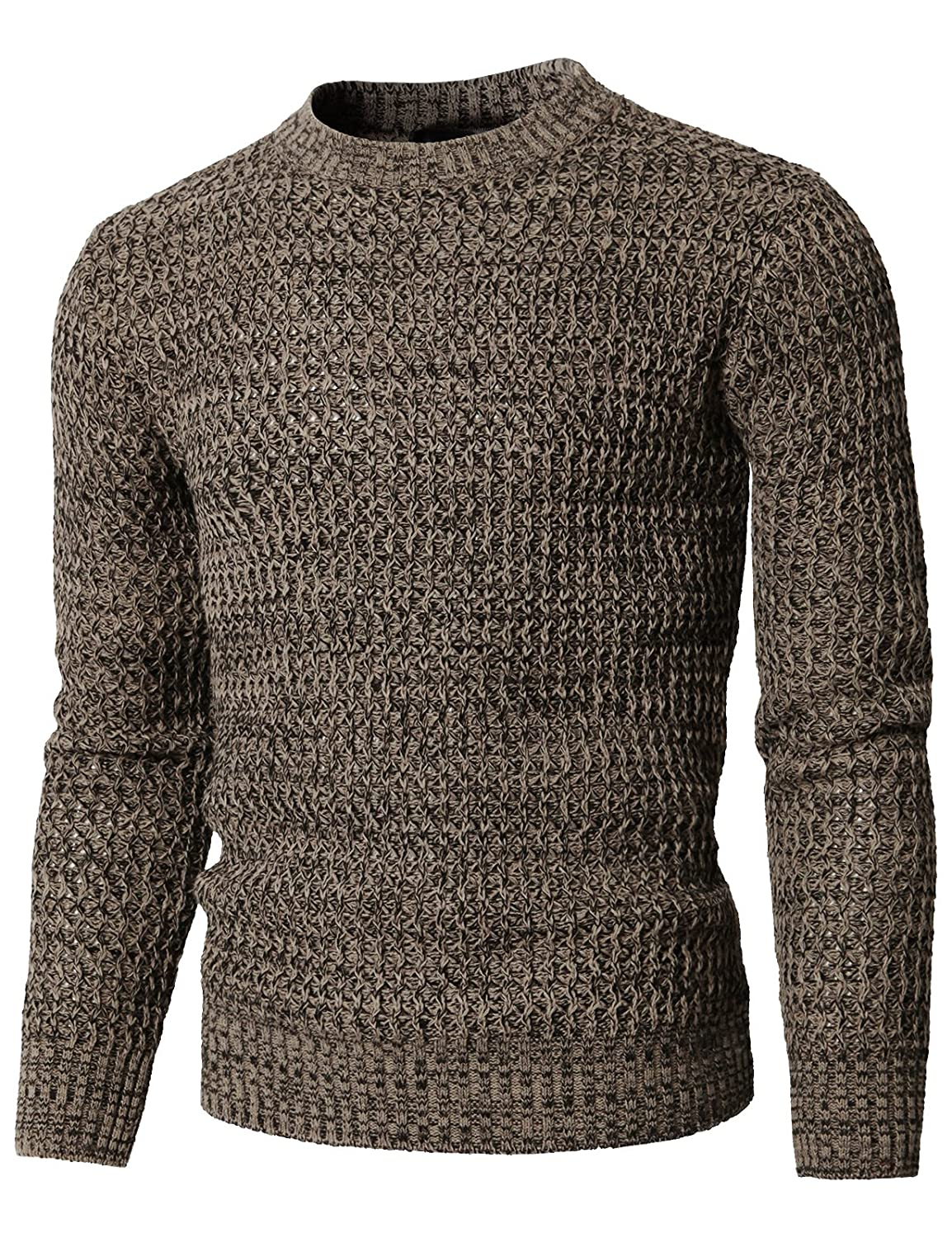 H2H Mens Casual Slim Fit Basic Designed Knit Pullover Sweater