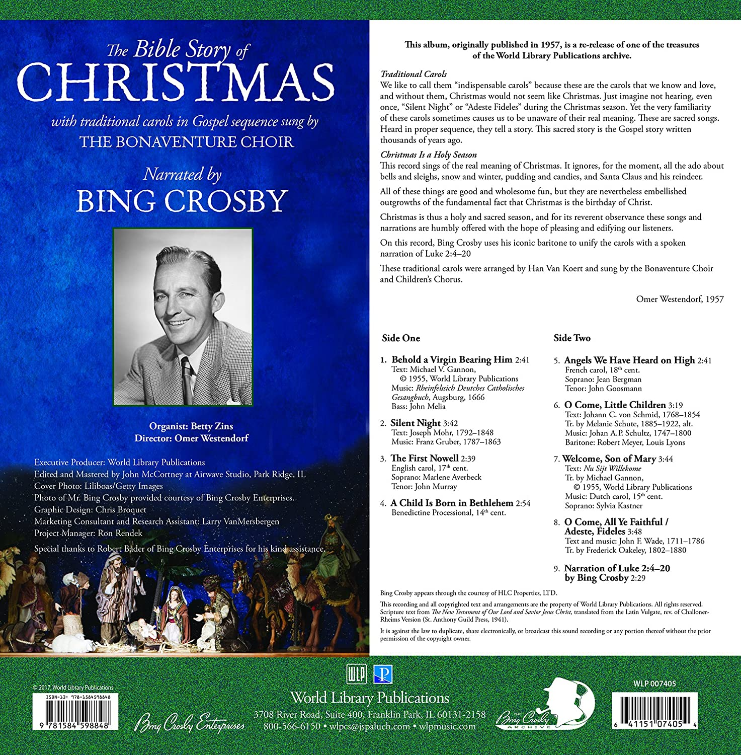Bing Crosby, The Bonaventure Choir - The Bible Story of Christmas ...