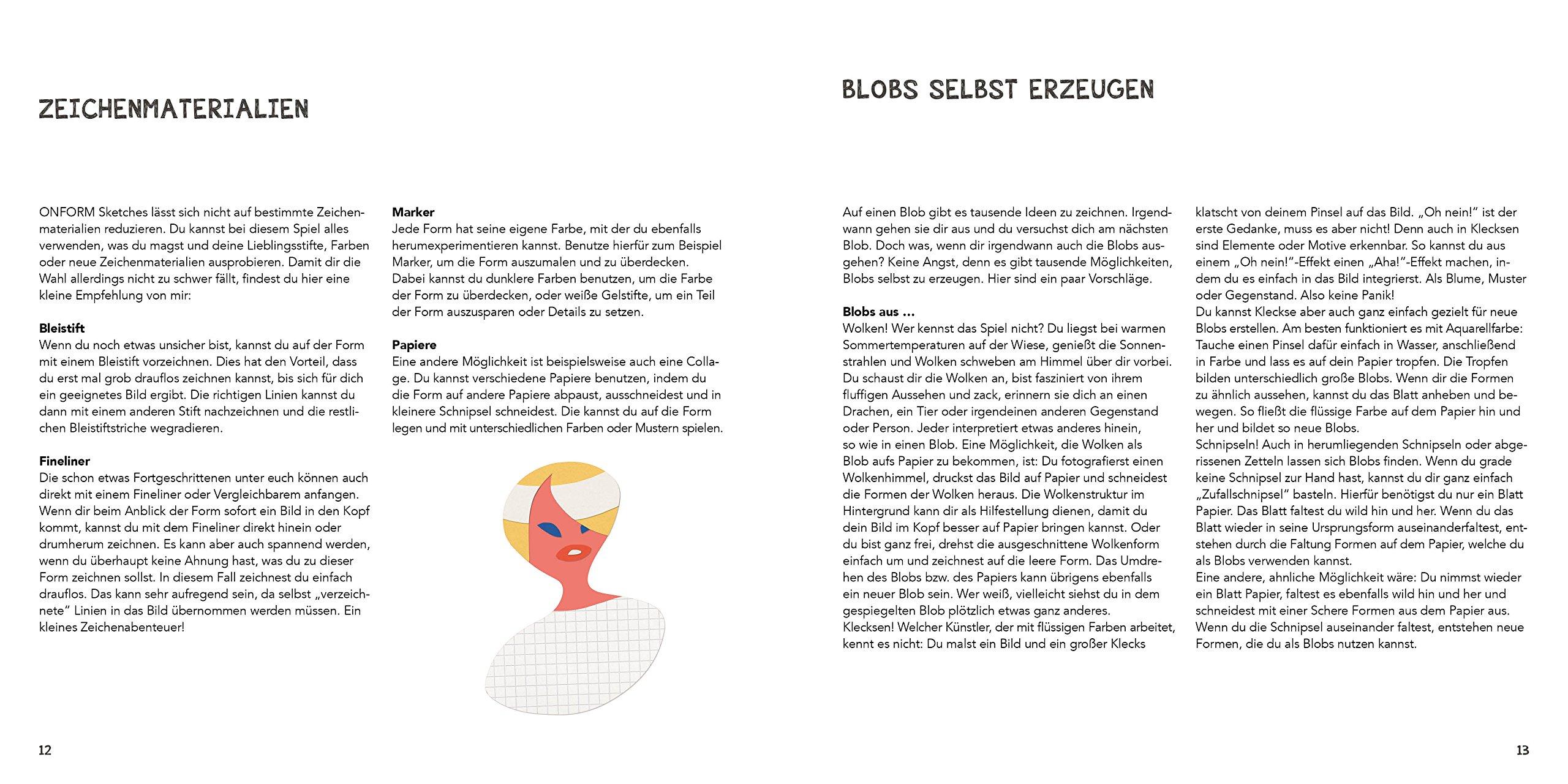 Das Zeichenbuch Mit Dem Blob Mit 32 Vorlageseiten Zum Sofort