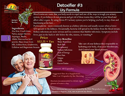 Amazon.com: Ultra Kidney Detox 30 Capsules Clean the Urinary System 100% Natural, Detoxifier # 3 Ury Formula: Health & Personal Care