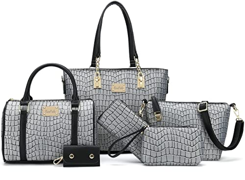 Women Purses and Handbags Purse and Wallet Set Hand Bags 6 PCS Gift Set Tote   Amazon.co.uk  Shoes   Bags 8c1950faec150