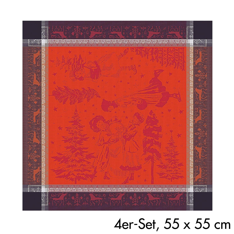 Garnier-Thiebaut, Chant de Noel (クリスマス キャロル) フレンチホリデーナプキン、22インチ x 22インチ、100% コットン   B07FF54RSQ