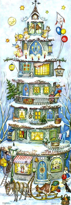 Adventskalender Weihnachtsturm von 1955 Anita Rahlweß Sellmer Verlag Richard Sellmer Verlag 559
