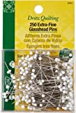 Dritz Extra-Fine Glass Head Pins, 1-3/8-Inch (250-Count)