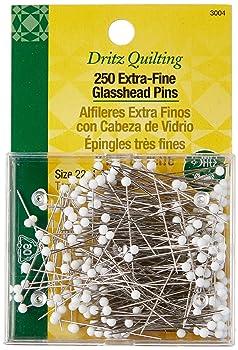 Dritz Extra-Fine Glass Head Quilting Pins