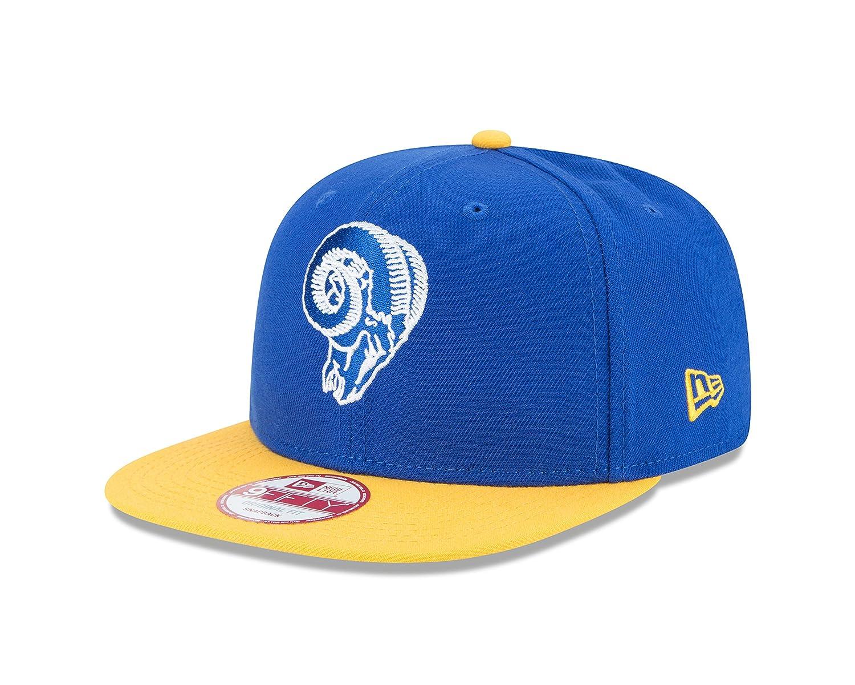 new styles 00bb9 711df Amazon.com   New Era NFL Historic Los Angeles Rams Baycik 9FIFTY Snapback    Sports   Outdoors
