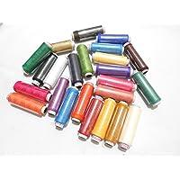 AM Goelx Polyester Assorted 24 Spool Stitching Thread & Accessory Storage Box (Muticolour)