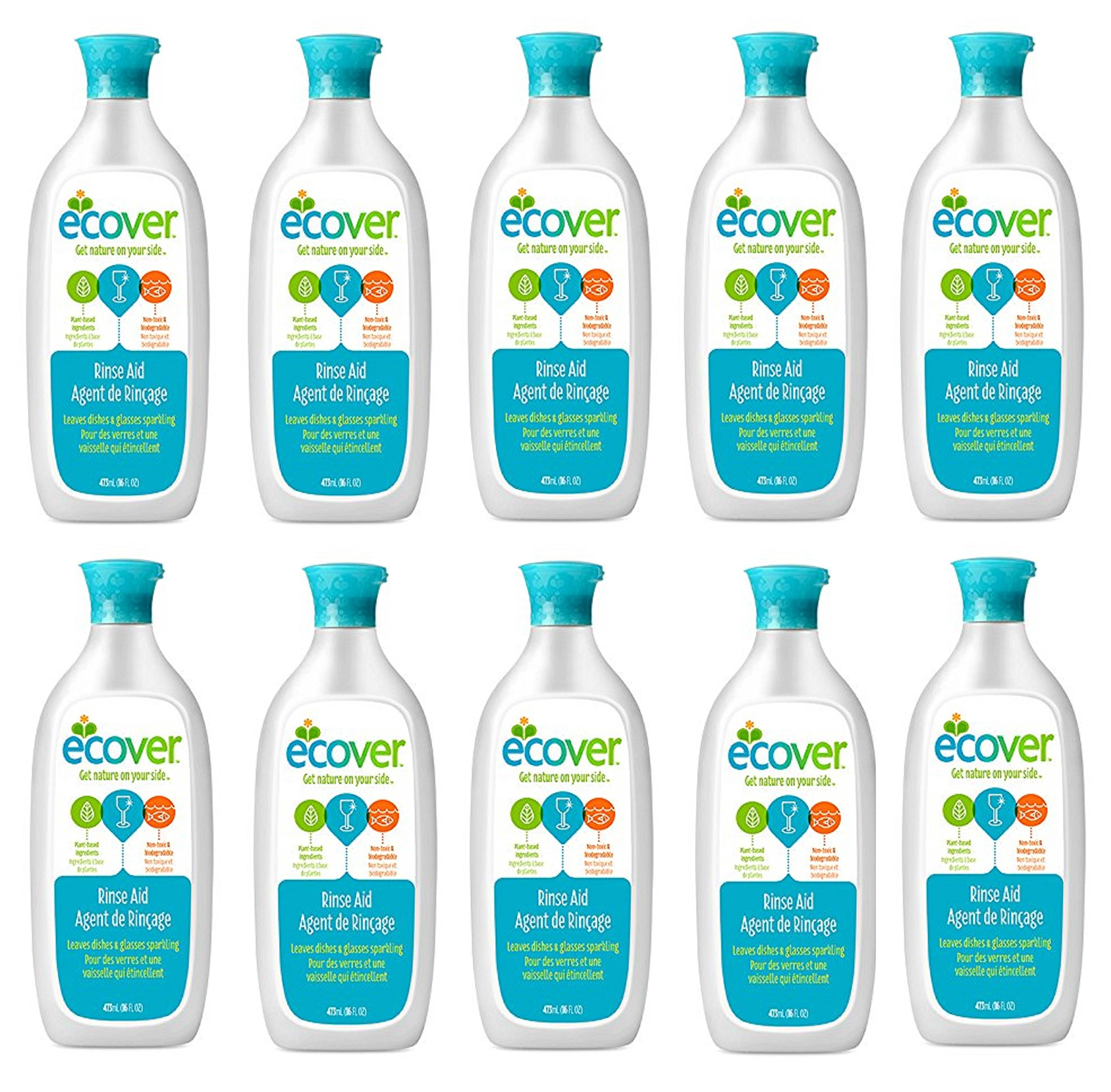 Ecover Naturally Derived Rinse axrDlk Aid for Dishwashers, 16 Ounce (Pack of 10)