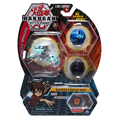 Bakugan Starter Pack 3-Pack, Haos Hydorous, Collectible Action Figures, for Ages 6 and Up: Toys & Games