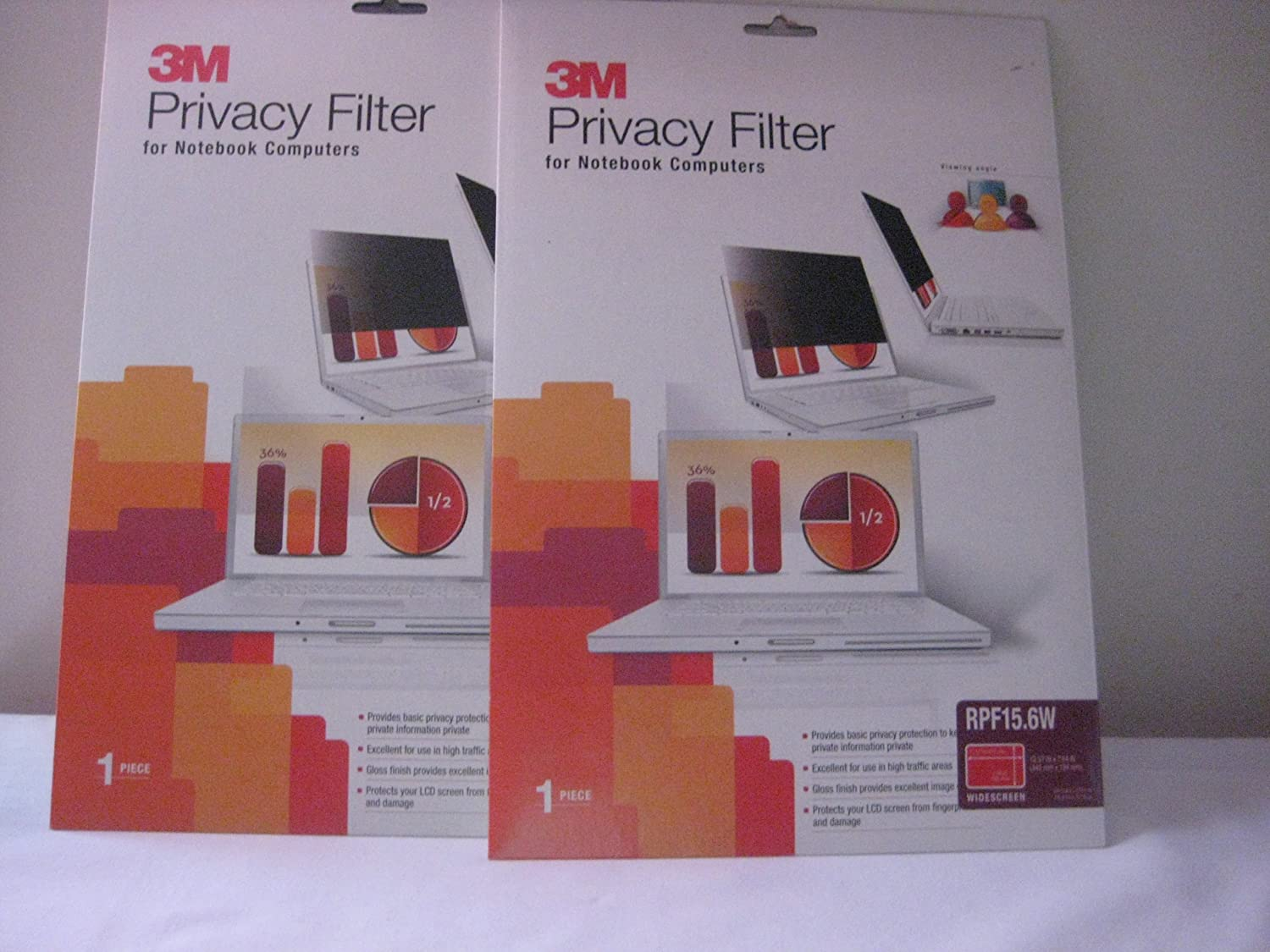 3M(Tm) Laptop/LCD Privacy Filter, 15.6In. Widescreen, Black