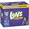 172 Count Luvs Ultra Leakguards Disposable Baby Diapers