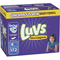 172 Count Luvs Ultra Leakguards Disposable Baby Diapers (Size 4)