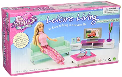 Buy Barbie Size Dollhouse Furniture Family Room Online At Low