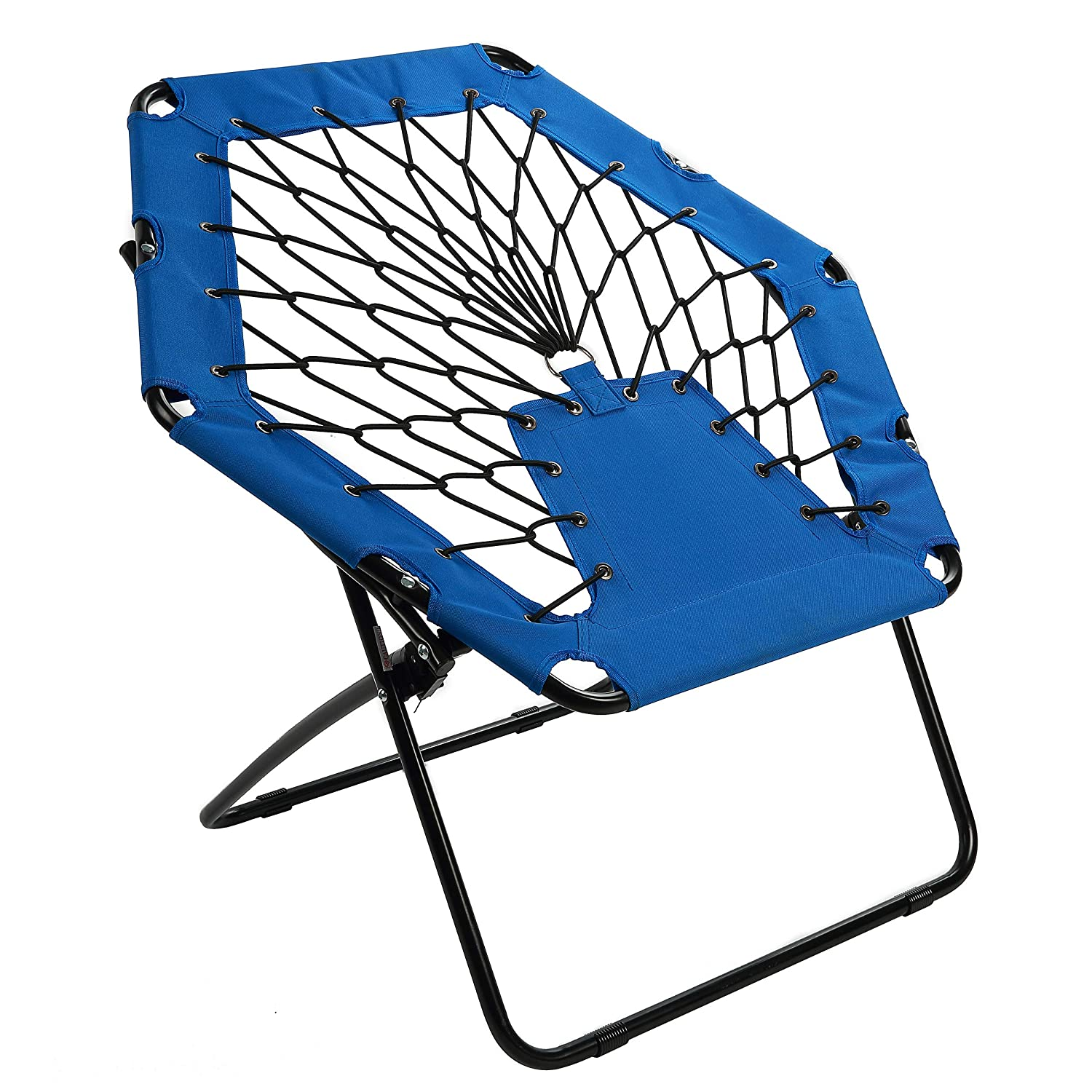 Awe Inspiring Harvil Portable Hexagon Bungee Chair Blue Gmtry Best Dining Table And Chair Ideas Images Gmtryco