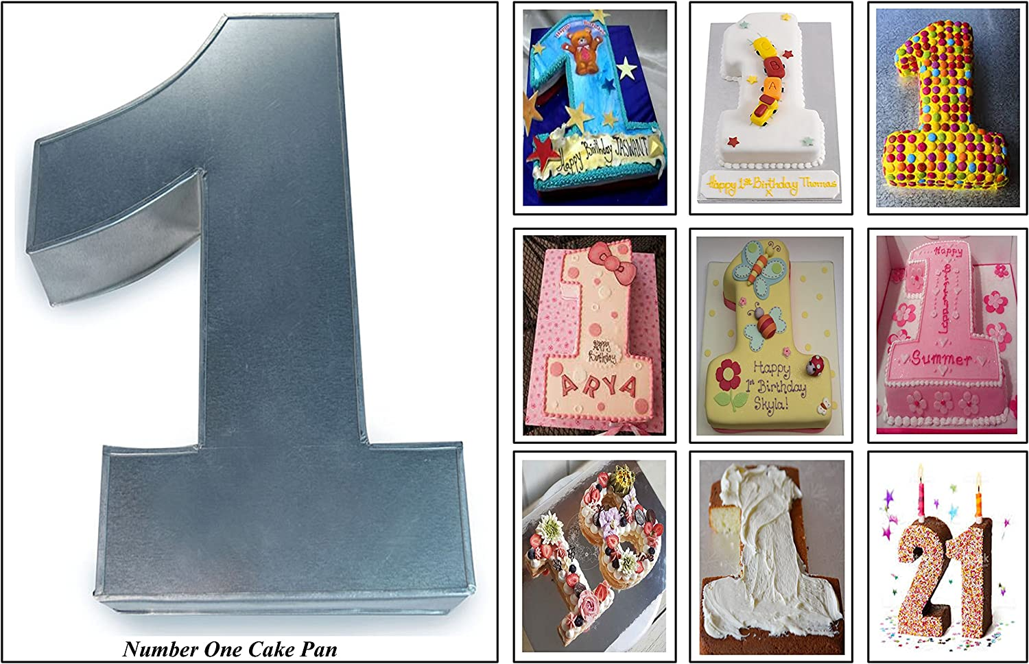 Phenomenal Euro Tins Numeric Cake Pan 25Cm Birthday Cake Tin Number One 1 Personalised Birthday Cards Paralily Jamesorg