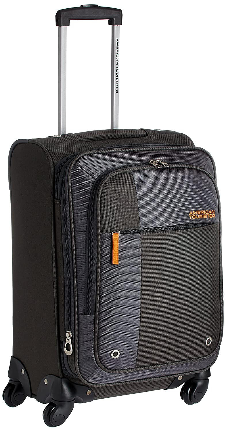 American Tourister Hugo Polyester 55cms Grey Softsided Carry-On (53W (0) 08 001)