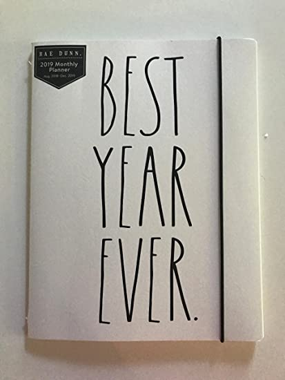 amazon com best year ever rae dunn 2019 monthly planner calendar