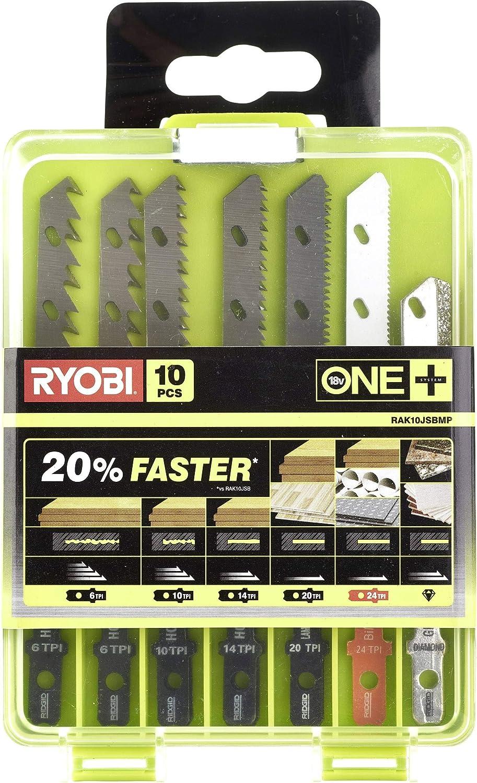 Coffret de 10 lames spéciales pour scie sauteuse RYOBI OnePlus RAK10JSBWM