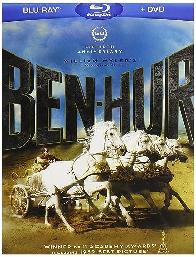 Amazon.com: Ben-Hur 50th Anniversary 4-Disc Blu-ray Combo Pack (BD/DVD): Sam Zimbalist, Karl Tunberg, William Wyler, Lew Wallace, Charlton Heston, Jack Hawkins, Stephen Boyd, Haya Harareet, Hugh Griffith, Martha Scott, Sam Jaffe, Cathy O