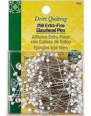 Dritz 3004 alfileres de cabeza de vidrio extrafinos, 1-3/8 pulgadas (250-unidades)