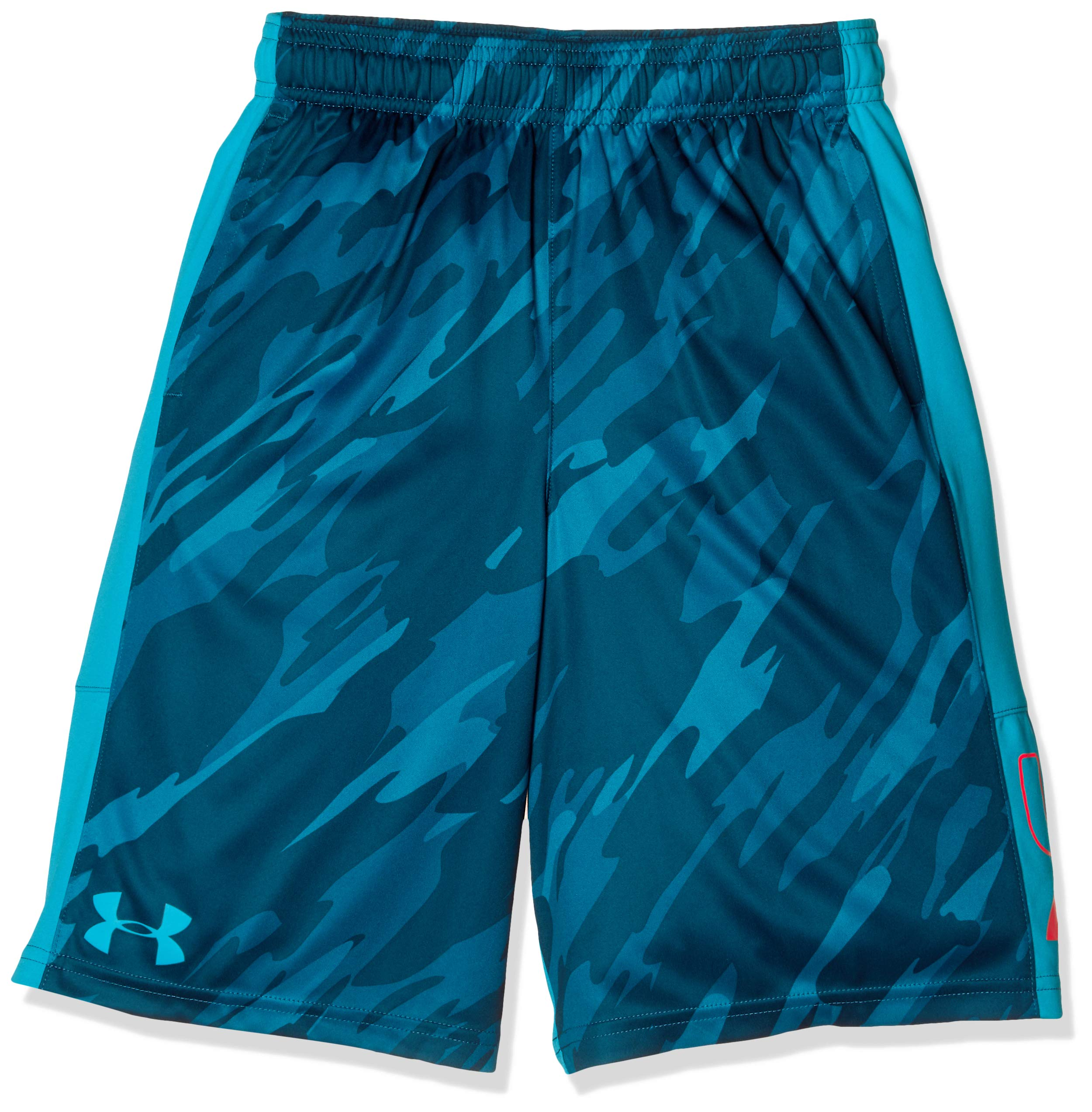 Under Armour Boys' Instinct Printed Shorts,  Deceit (439)/Deceit  Youth X-Small
