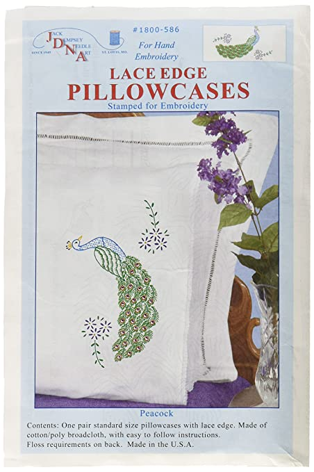 Amazon Jack Dempsey Stamped Pillowcases With White Lace Edge