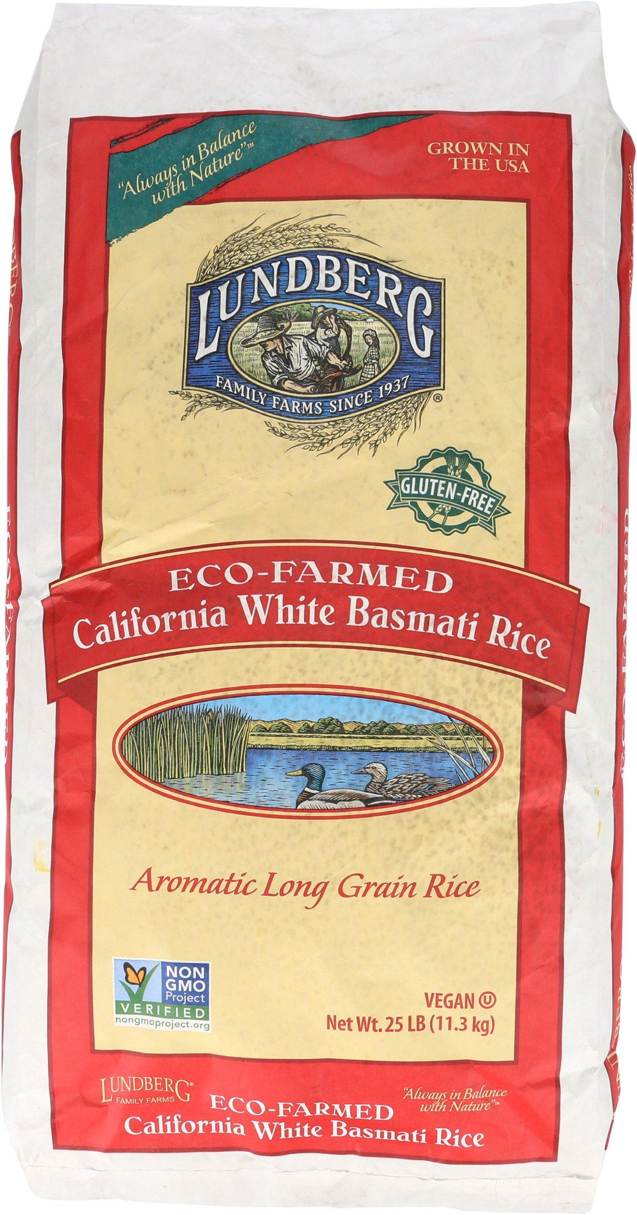 Lundberg Family Farms Basmati Rice, California White, 400 Ounce (Pack of 1) by Lundberg
