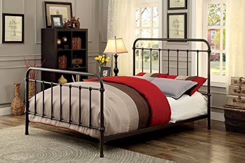Furniture of America Overtown Bed, Eastern King, Dark Bronze