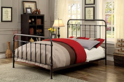 Amazoncom Furniture Of America Overtown Metal Bed California King