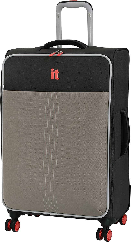 it luggage Filament 8 Wheel Lightweight Semi Expander Suitcase Medium Maleta, 70 cm, 88 Liters, Gris (Grey Rhapsody)