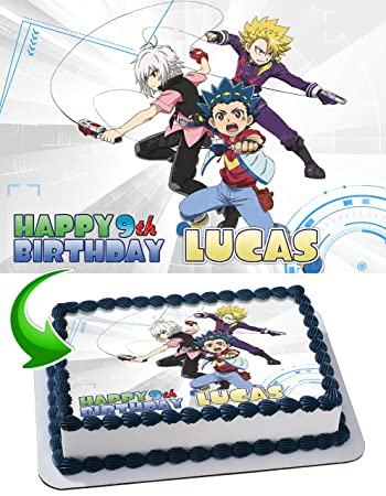 Beyblade Edible Image Cake Topper Personalized Birthday 1/4 Sheet ...
